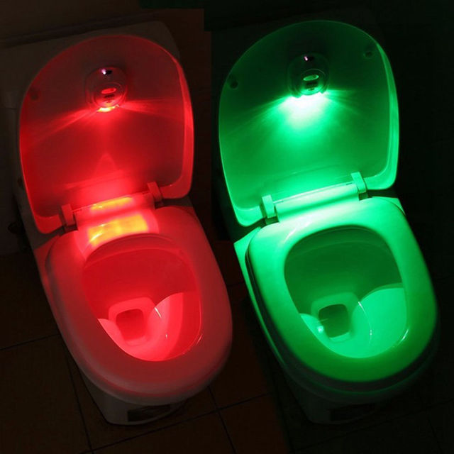 LED Sensor Motion Activated Toilet Light Bathroom Flush Toilet Lamp ...
