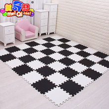 9/18/24/30pcs/lot Soft EVA Foam Baby Children Kids Play Mat Black White Color Puzzle Mats Floor Jigsaw Mats 30 x 30 x 1cm(China)