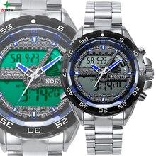 Men Sport Watch Multifunction LED Digital Analog Male Wristwatch Waterproof Stainless Steel Fashion Casual Military Sport Watch