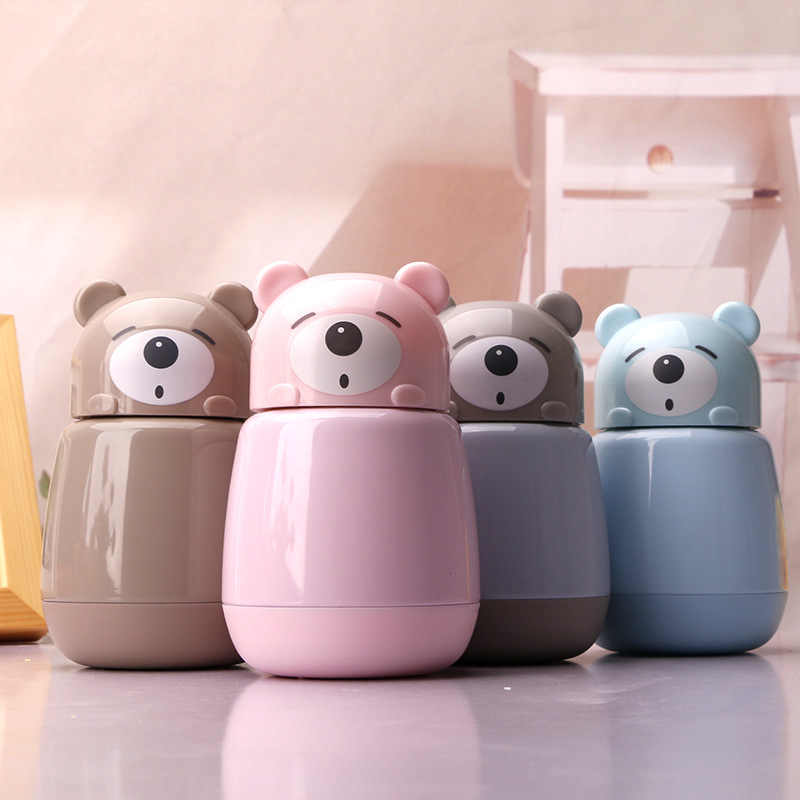 TECHOME Thermos New Creative Bear Cute Thermal Cup Insulation Cup Children Cartoon Vacuum Cup