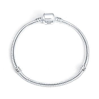 Hot Silver Love Snake Chain Fit Charm Bracelet & Bangle Charm Jewelry Gift For Men Women 16-21cm 1