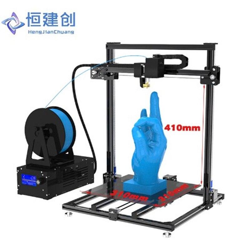 3D Imprimante Grande Taille Double Lecteur Double Y axe piste + Double Z axe Stable Et Fiable 3D Imprimante DIY haute Précision Hcmaker 7