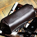 2016 New Bucket Genuine Leather Clutch Bag Men's Punk Style Soft Men Wallet Bags Design Cowhide Handbag Long Wallets Purse Bag