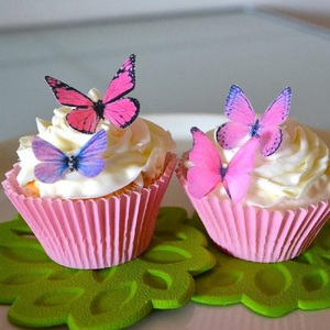 Image 3 - 20Pcs/set Mixed Butterfly Edible Glutinous Wafer Rice Paper Cake Cupcake Toppers For Wedding Cake Decoration Birthday