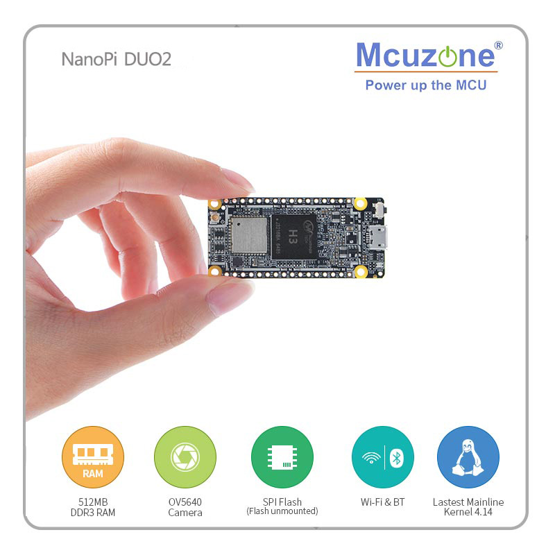 FriendlyELEC NanoPi DUO2 512M Allwinner H3 Cortex-A7 WiFi Bluetooth Module UbuntuCore Light-weight IoT Applications