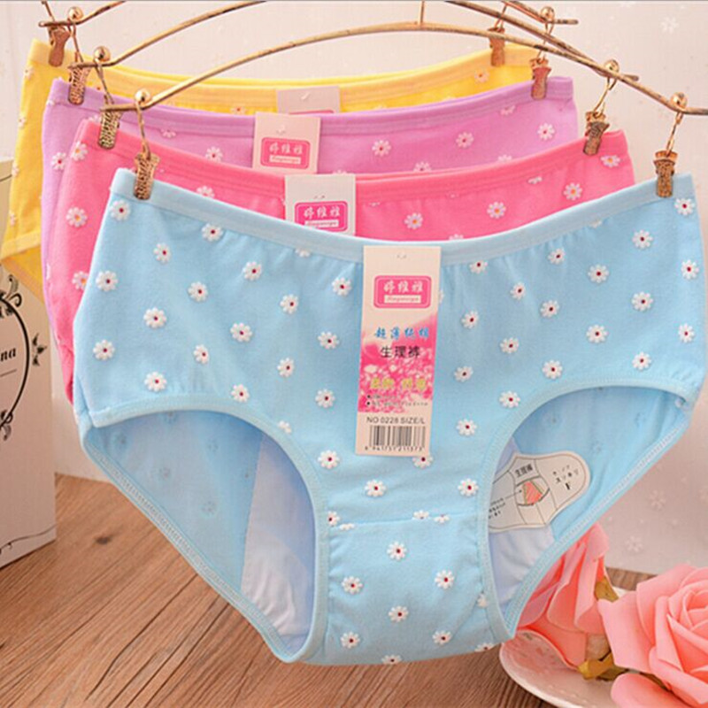 2016 String Womens Panties 6 Pieces Physiological Breathable Comfortable Confinement Cotton Underpants Girls Lovely Briefs