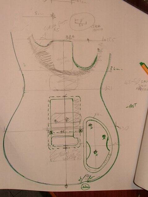 Pièces de guitare électrique de corps de guitare électrique de guitarra faites sur commande de bricolage les instruments de musique peuvent être des accessoires de guitare adaptés aux besoins du client