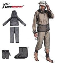 Мужской Быстросохнущий дышащий сетчатый костюм с сеткой от насекомых, анти-частичный костюм, одежда от комаров, частичный и один костюм, открытый, для рыбалки, кемпинга