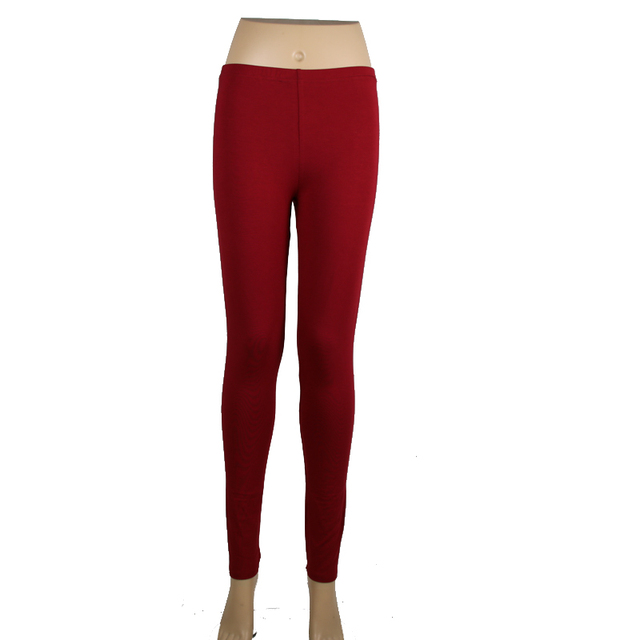 cfbb1a38235 Babbytoro 2019 Solid Color Red Leggings Xs- 7xl Women Modal Cotton Ankle Length  Jeggings Pants Girl 6XL 5XL Leg Pants