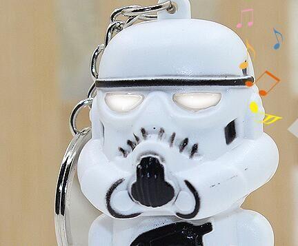 Star Wars The Force Awakens Led Flashlight Key chain Darth Vader Yoda Anakin Skywalker Figure Keyring