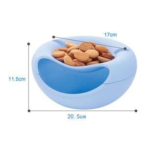 Image 4 - Commodité en plastique Double couche fruits secs conteneurs collations graines boîte de rangement sac à ordures plat plat organisateur