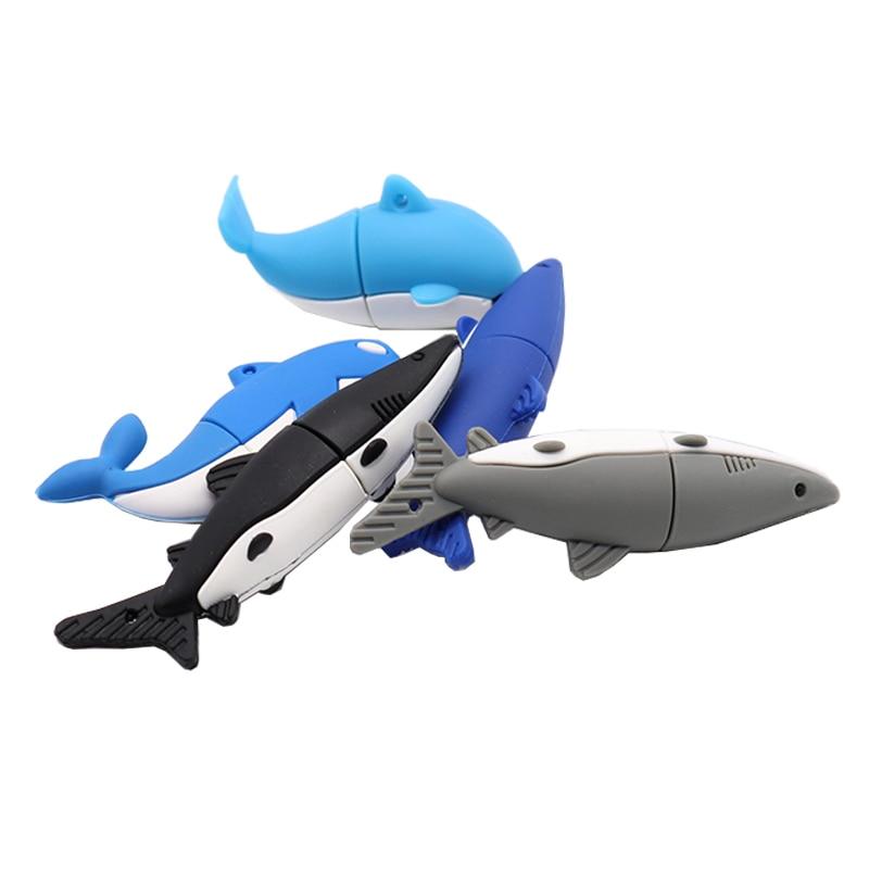 USB  stick pendrive Cute dolphin usb flash drive 4GB 8GB 16GB 32GB 64GB shark memory stick creative gift pen drive cle usb2.0