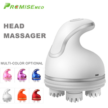 pr+mise Smart 3D Head Massager Head Scalp Massager Pressure Points To Relieve Stress Promote Blood Circulation Hair Growth 4d smart head massager electric head scalp massager handheld shampoo hair brush promote blood circulation hair growth 4 heads