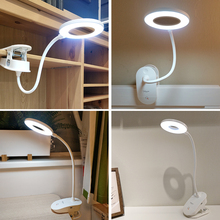 YAGE 18650 LED Touch On/off Switch 3 Modes Clip Desk Lamp 7000K Eye Protection Desk Light Dimmer Rechargeable USB Led Table Lamp