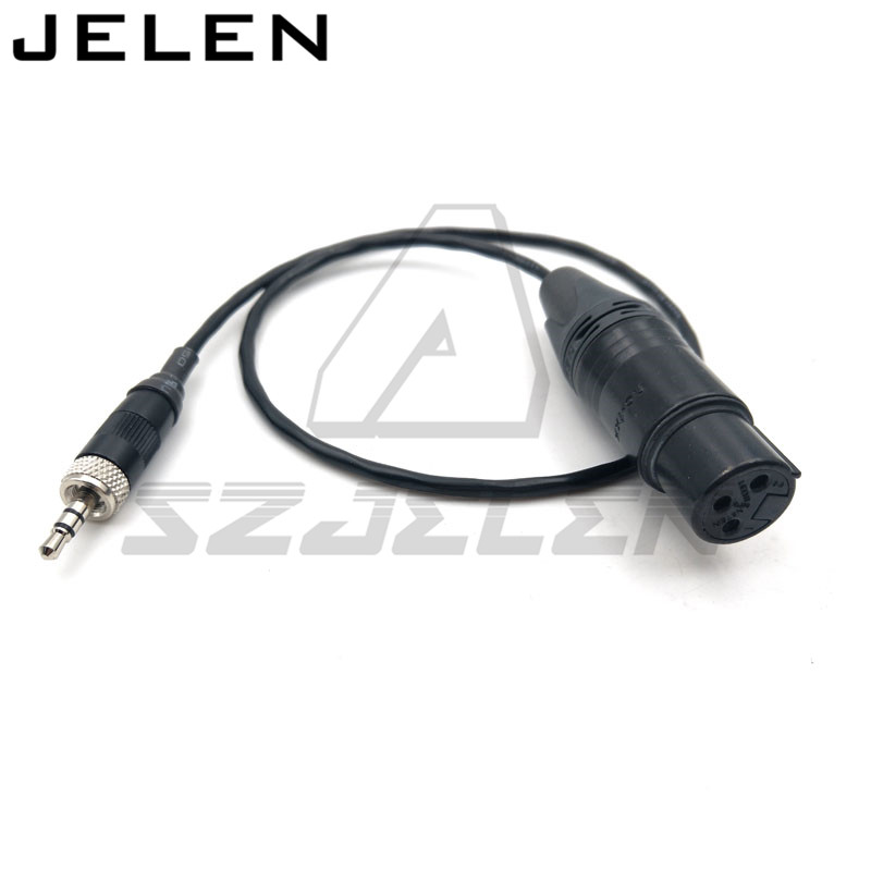 Sound equipment recording conversion line, 3.5 audio plugs to XLR 3 pin female for Sony D11 audio cable  50cm 1pcs lot md6f line md6 female mouse and keyboard to 4p terminal line 50cm
