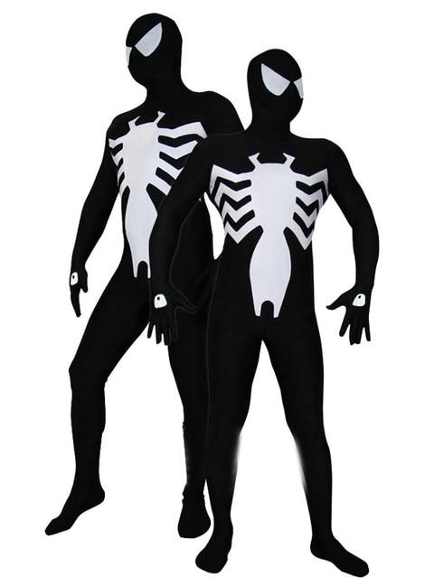 Black White Spandex Vemon Symbiont Spider Man Kostuum Spiderman