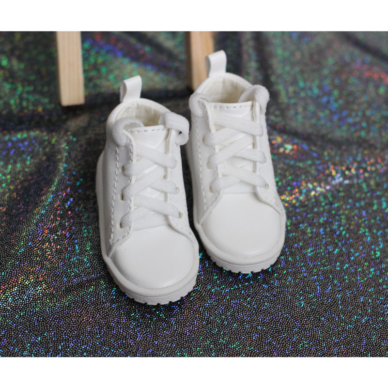 1/4 White Doll Shoes With Socks Fashion SD MSD SDM BJD Plate Sports Shoes For 1/4 Doll Accessories Toys For Girls Birthday Gifts handsome grey woolen coat belt for bjd 1 3 sd10 sd13 sd17 uncle ssdf sd luts dod dz as doll clothes cmb107