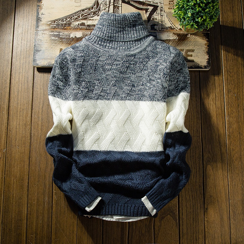 New Winter Thick Sweater Men Long Sleeve Slim Fit Turtleneck Mens Christmas Sweaters And Pullover Men