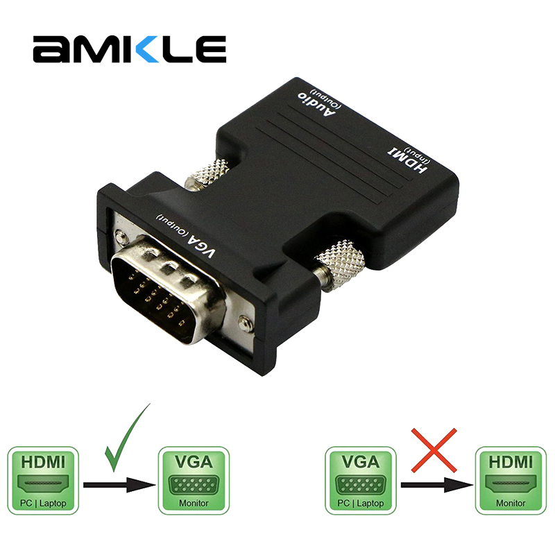 Amkle Mini DP to HDMI Cable Male to Male Adapter Mini DisplayPort ...