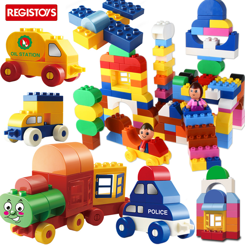 New 6806 & 6807 Big Bricks Building Blocks Baby Toy First Brick Car &Train Model Educational Toys Compatible 48pcs good quality soft eva building blocks toy for baby