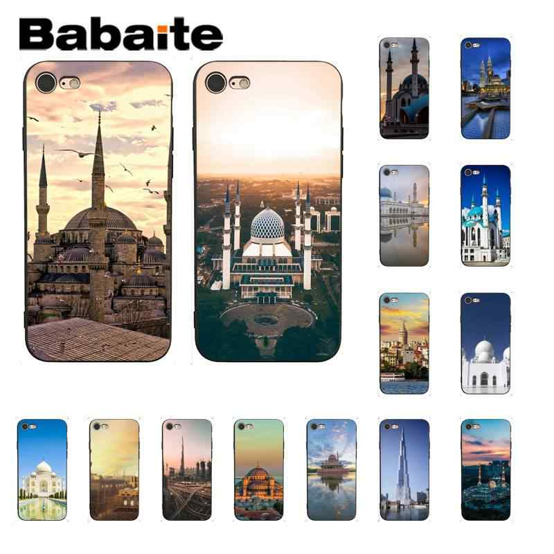 Babaiet Landscape Muslim Mosque Building Colorful Cute Phone Case for iPhone 8 7 6 6S Plus 5 5S SE XR X XS MAX 11 11pro 11promax