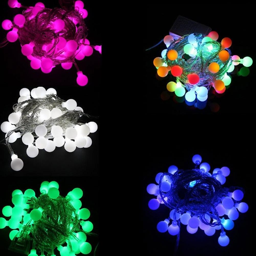 50 LED Ball String Lights Solar Powered Christmas Light Patio Lights  Lighting For Home Garden Lawn