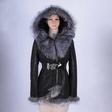Large size Real Sheep Fur women coat slim Fashion High-end Thickening Direct supply from factory Wholesale new 100% fox collar