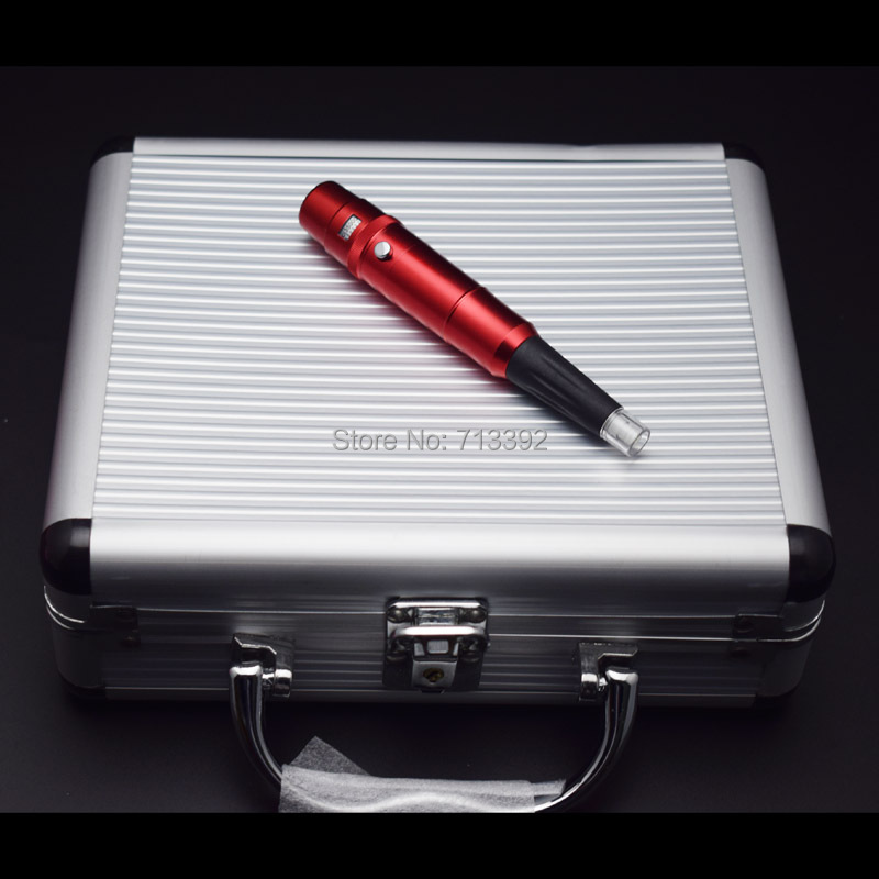 Red High Quality Permanent Makeup Machine Kits (Needles +Tips) Free Shipping