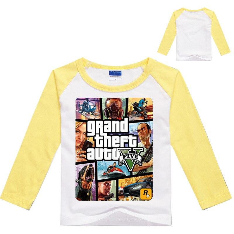 Z & Y 3-16Years GTA 5 티셔츠 소년 게임 의류 소년 긴 - 아동복 - 사진 3