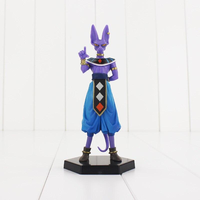 1pcs  Dragon Ball Z Super Saiyan Beerus PVC Figures Collectible Model Toy With Base