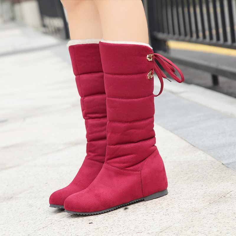 Women Snow Boots Shoes 2017 New Arrival Winter Warm Keep Platform Cotton Shoes High Quality Knee High Boots winter warm snow boots cotton shoes flat heels knee high boots women boots wholesale high quality
