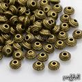 Tibetan Style Alloy Bead Spacers, Bicone, Lead Free and Cadmium Free, Antique Bronze, 5x3mm, Hole: 1.5mm