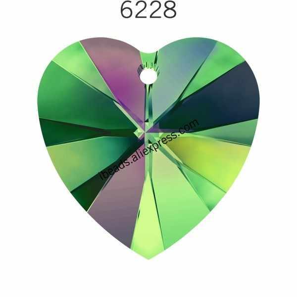 (1 pieza) 100% CRISTAL DE Swarovski Original 6228 colgante de corazón de XILION HECHO EN AUSTRIA cuentas de diamantes de imitación para fabricación de joyas DIY