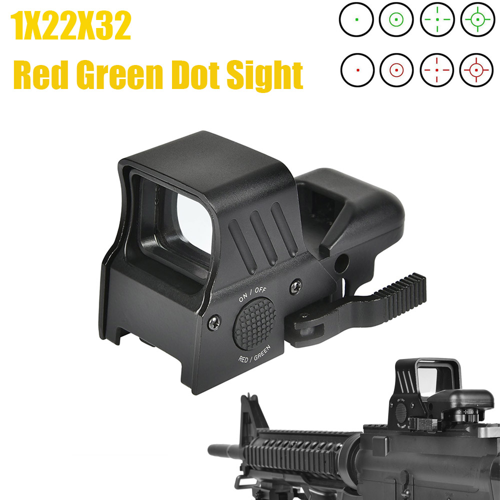 CVLIFE 1X22X32 Red Green Dot Sight 4 Reticles Reflex Sight With Quick Detach Mount 20mm Rail