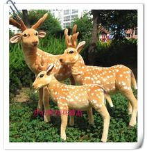 The Sika deer toys lovely standing plush doll Sika deer soft toy birthday gift about 60cm