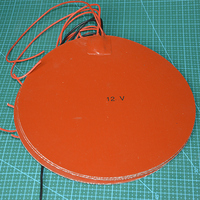 Delta Kossel 3D printer DIY 250 mm round silicone rubber heating plate film mat 12V 200W Round Silicone Rubber Heater Mat 250mm