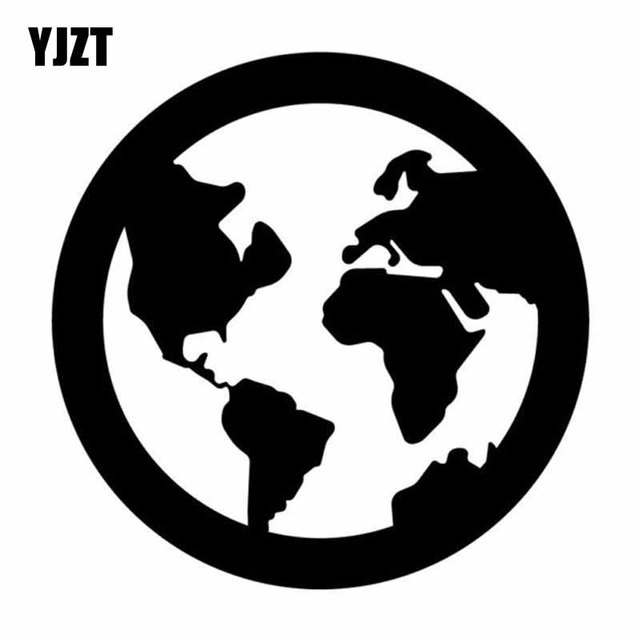 Yjzt 12cmx12cm planet earth world map vinyl blacksilver car sticker yjzt 12cmx12cm planet earth world map vinyl blacksilver car sticker decal graphical c18 gumiabroncs