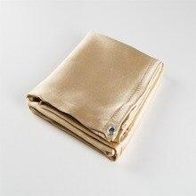 1,0x1,0 м равномерное одеяло для сварки из стекловолокна для легкого подвешивания и защиты рабочей зоны