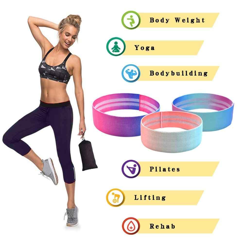 Kobiety Hip bawełniane taśmy oporowe ciało nogi ćwiczenia opaski elastyczne antypoślizgowe do siłowni joga rozciąganie trening Fitness trening