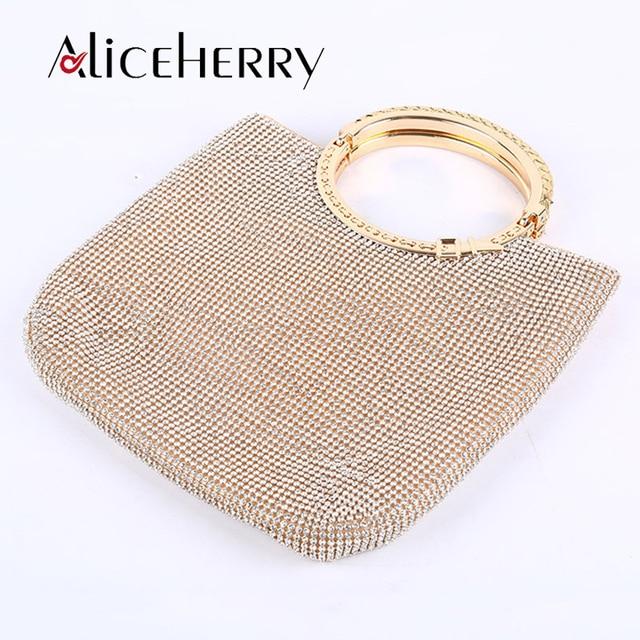 Luxury Handbags Women Bags Designer Fashion Handmade Tote Bag Feminine Golden Handbag Chains Crossbody Diamond Evening