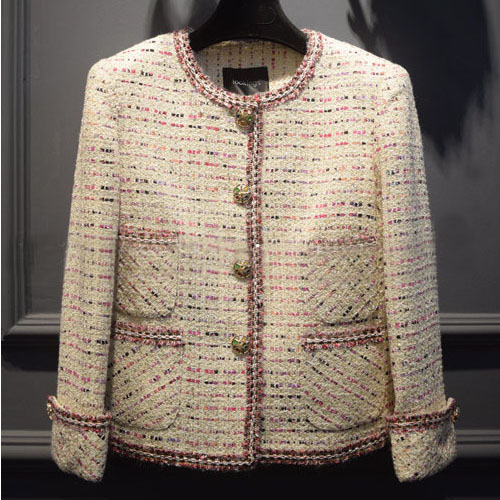 Manteau Feminino D'hiver Distinctif Casaco 2016 Tweed Laine Veste Femmes Incroyable Mujer Abrigos Bureau Mode Veste Élégant pBwqFBTEx