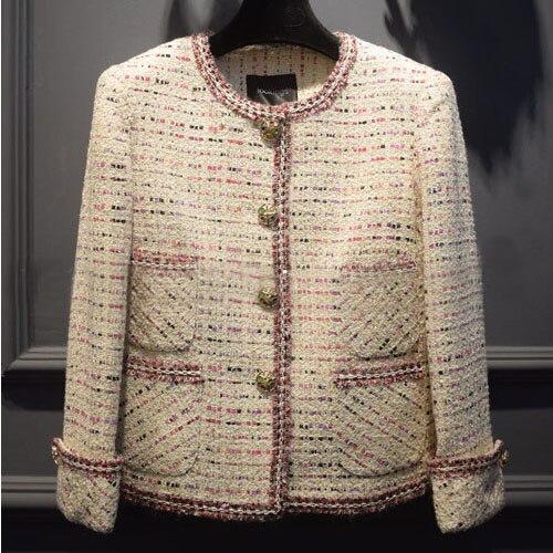 D'hiver Feminino Incroyable Laine Élégant Manteau Veste Distinctif Bureau Tweed Femmes Mode 2016 Casaco Mujer Veste Abrigos 4YvxwOSq