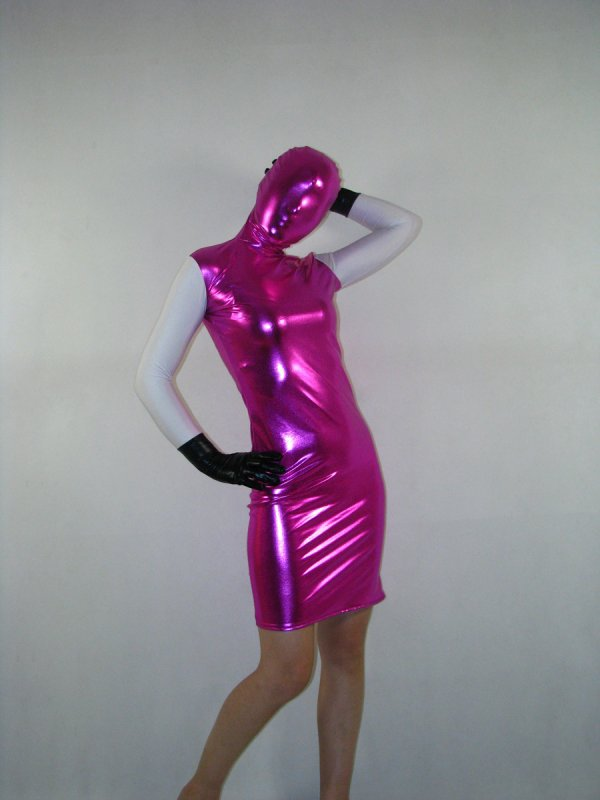 Tricolor Shiny Metallic Catsuit