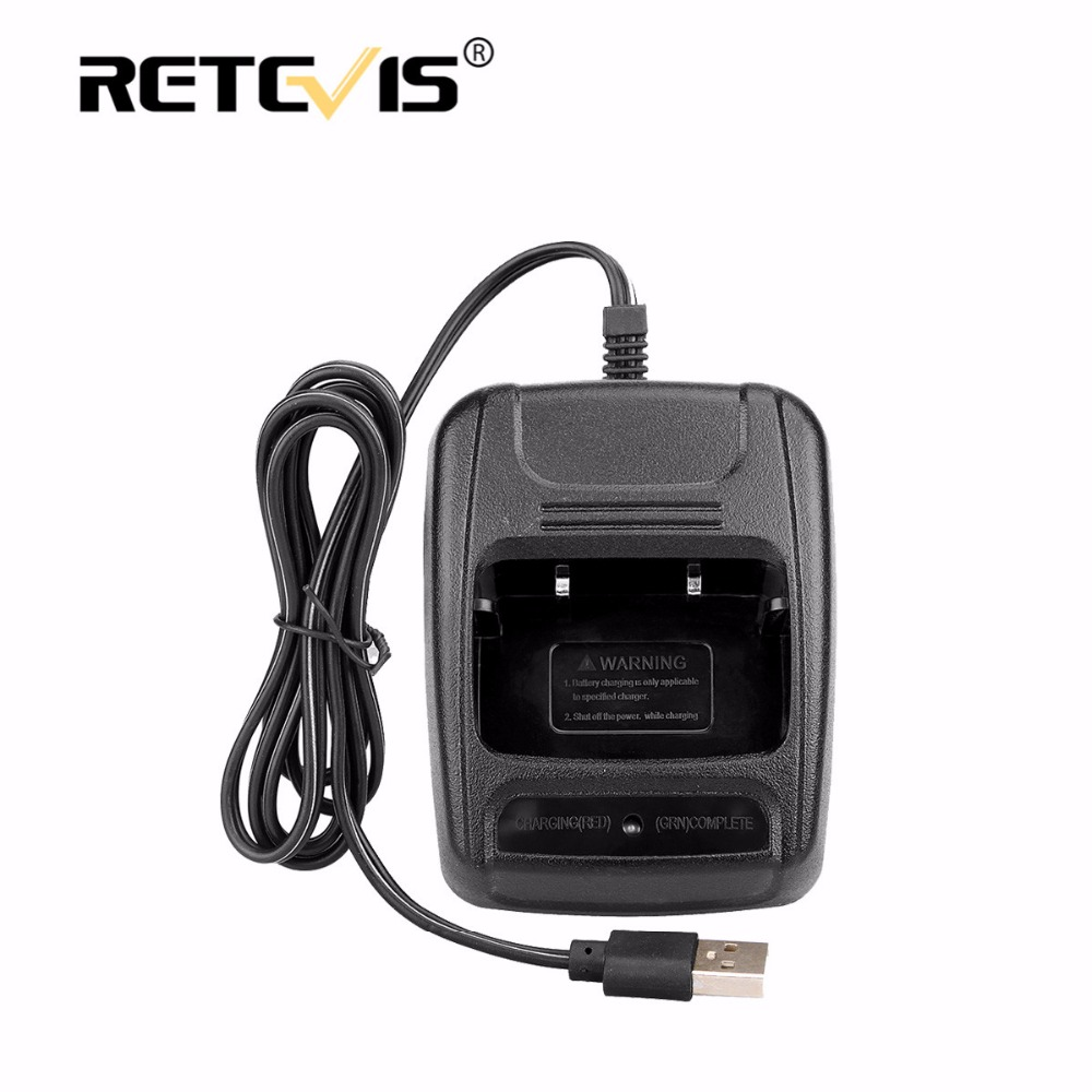 USB Li-ion Radio Battery Charger Input 5V 1A For Baofeng BF-888S 888S Retevis H777 H-777 Ham Radio Walkie Talkie J9104E