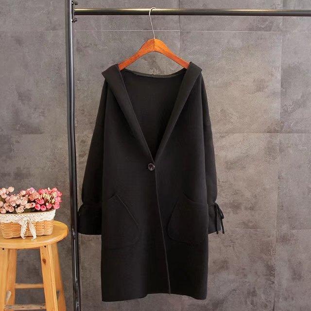 Vêtements Fil Trench De vert Automne Mode gris Capuche Plus Casual Tricoter Noir Couvrant Femmes rouge Size T6 Survêtement V374 À pYwAqx