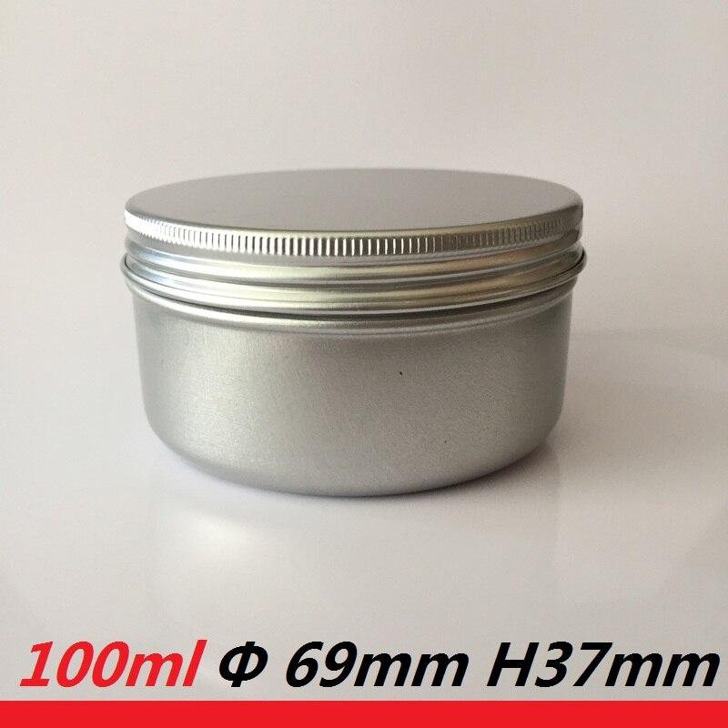 100ml posoda s svečami okroglo čajno kovček za kovnico z meto, škatlasto prazno 100 g kozarca sveča aluminij pločevinke sveče pločevinke višjega pakiranja