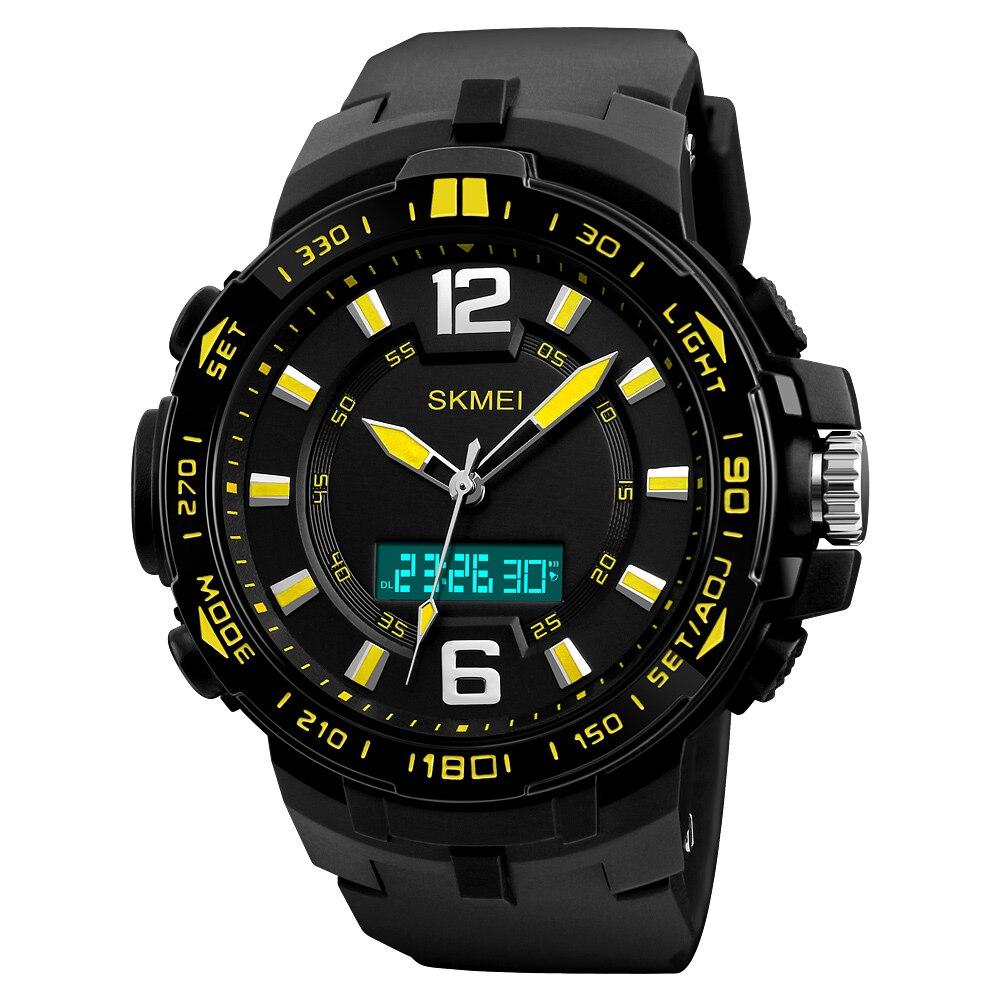 цена на SKMEI Men Sports Watches Multifunction LED Fashion Quartz Digital Wristwatches 50M Waterproof Watch Man Relogio Masculino 1273