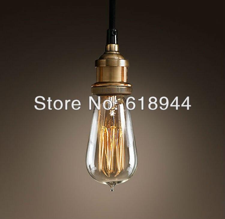 Vintage Pendentif Lumières avec Edison ampoule E26 E27 Feux D'artifice Filament Ampoule Pendentif Éclairage décorations pour la maison luminaria lampen