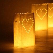 10 pcs/lot Outdoor Candle Lantern Stars Tea light Holder Pap