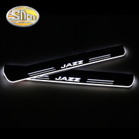 SNCN 4PCS Acrylic Moving LED Welcome Pedal Car Scuff Plate Pedal Door Sill Pathway Light For Honda Jazz Fit 2015 2016 2017 2018